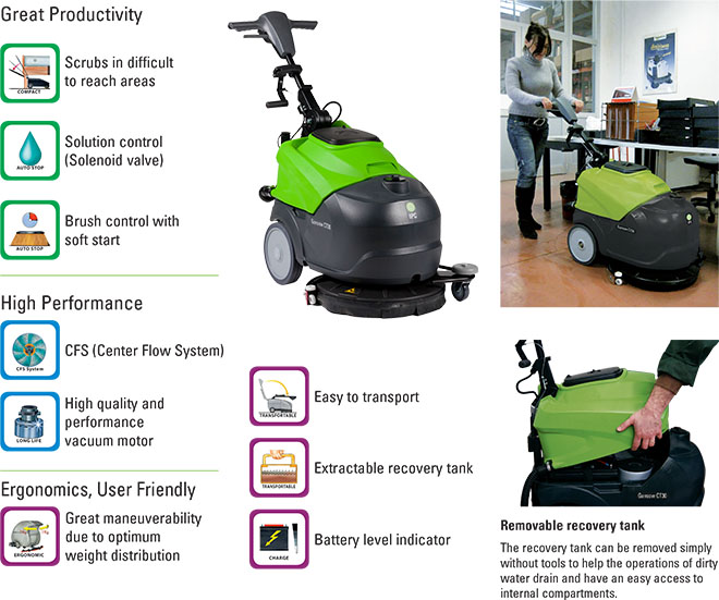 Automatic Floor Scrubber - Walk Behind
