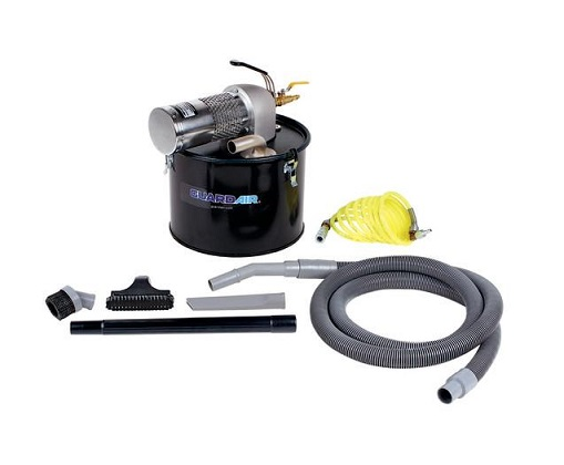 "N051MC Guardair 5 Gallon Pneumatic Vacuum - M Venturi W 1¼"" Vac Hose & Tools N051MC"