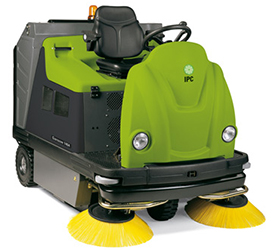 "Genius TK1404 IPC Eagle HYBRID 58"" Dual Power Unleaded Gas / Battery Powered Vacuum Sweeper"