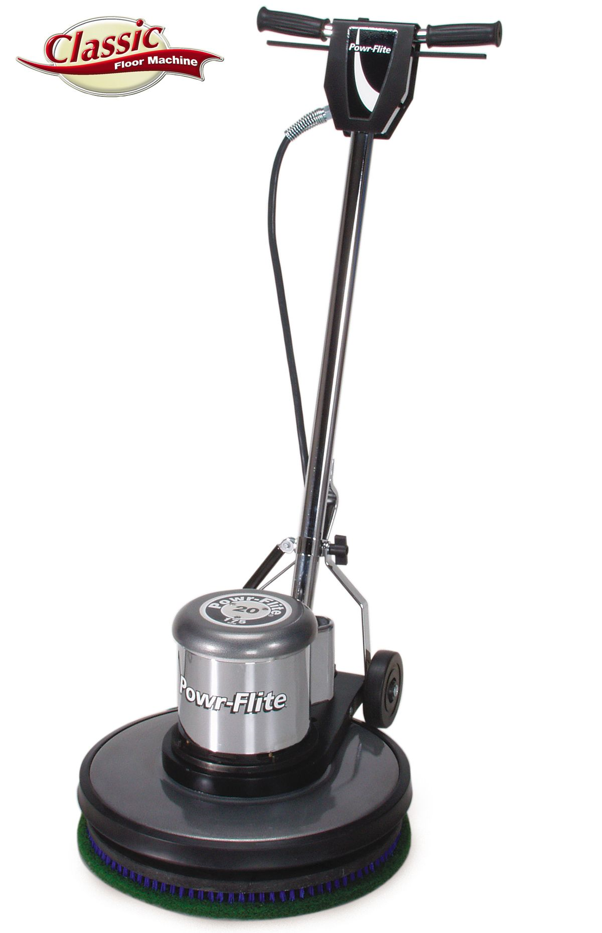 "C201HD Power-Flite 20"" Size, 1.5 HP Motor, 175 RPM, Classic Metal Floor Machine"