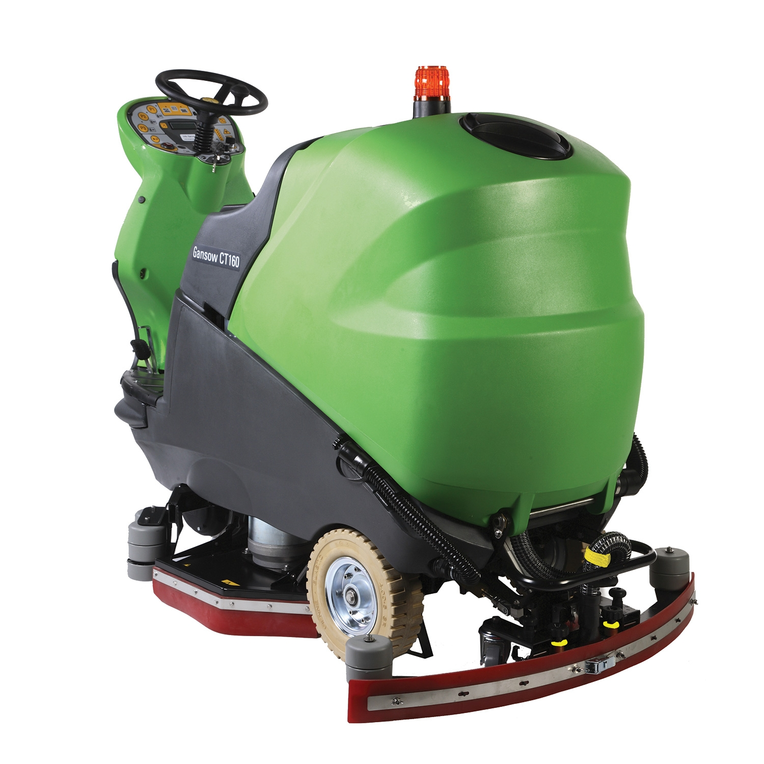 "CT160BT75R-SB IPC Eagle Power, 30"" Cylindrical  Rider Scrubber with side Brushes/Brooms, Scrub and Sweep in One Pass"