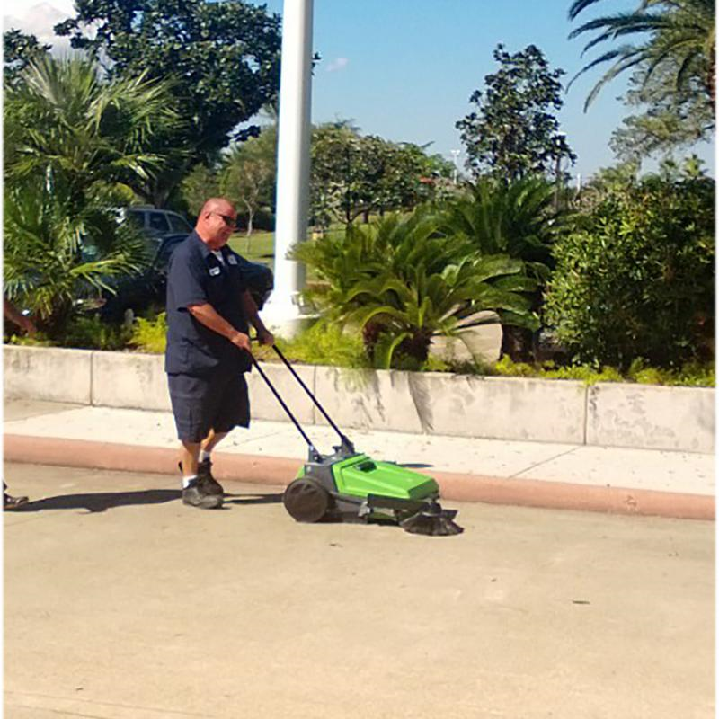 "tk510 ipc 27"" cleaning path manual sweeper outdoor use"